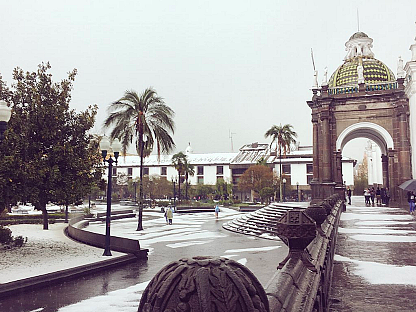 Disrupted Stories: Quito's first snow